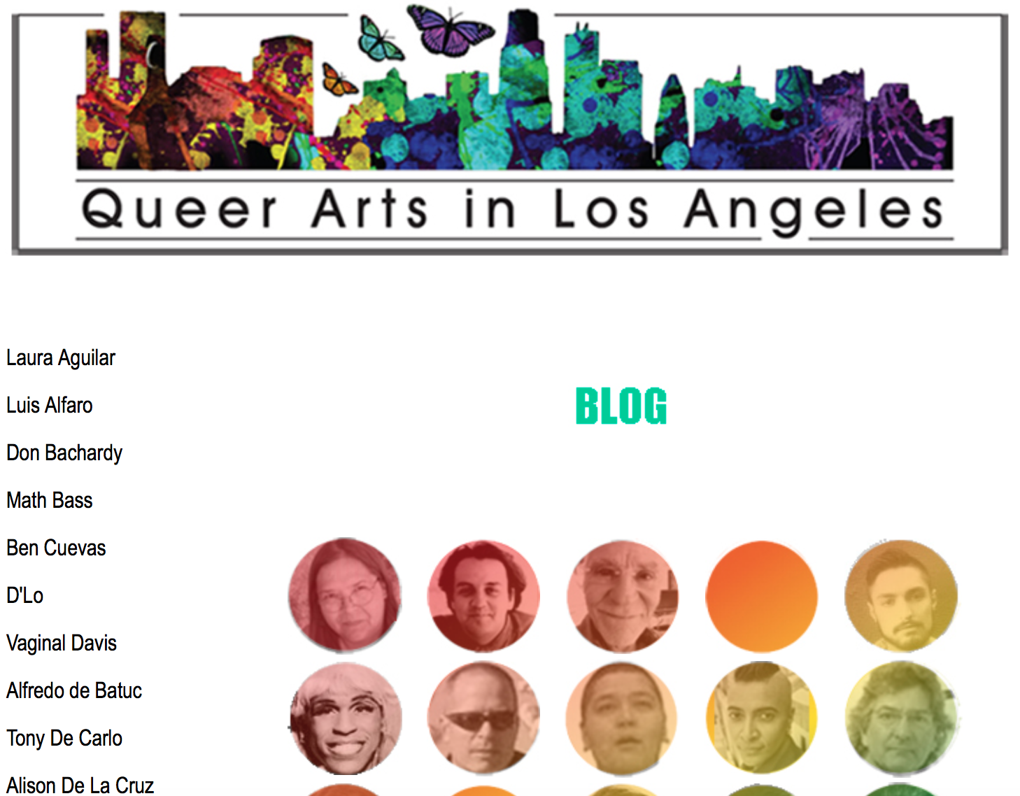 Queer Arts in LA website image